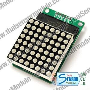 โมดูลแสดงผลด้วย LED แบบ Dotmatrix ขนาด 8x8 (แดง)