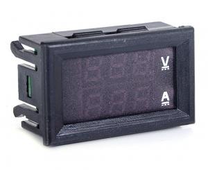 โมดูลโวลท์มิเตอร์/แอมป์มิเตอร์ (0-100V, 0-10A) สำหรับติดตั้งหน้าเครื่อง